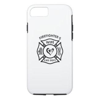 Capa iPhone 8/ 7 Coração da esposa dos sapadores-bombeiros