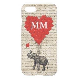 Capa iPhone 8/7 Coração do elefante do vintage