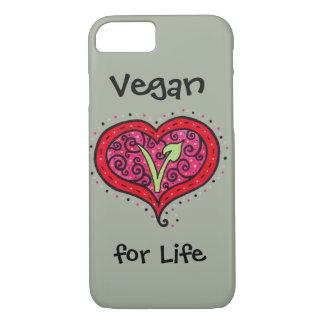 Capa iPhone 8/ 7 Coração do Vegan