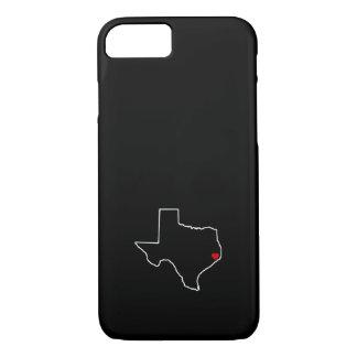 Capa iPhone 8/ 7 Coração do vermelho do esboço de Texas do alivio