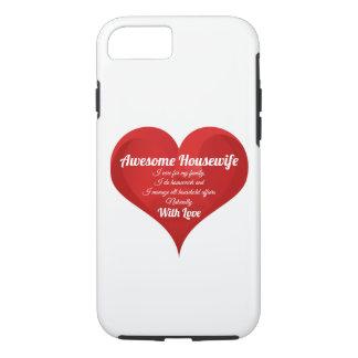 Capa iPhone 8/ 7 Coração impressionante do amor das citações do