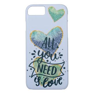 Capa iPhone 8/ 7 Corações e cobrir do telefone das citações do amor