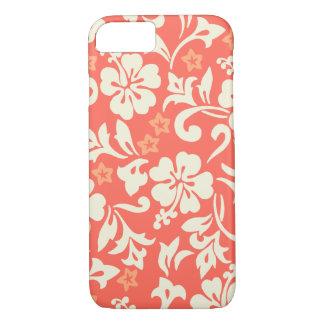 Capa iPhone 8/ 7 Coral havaiano do hibiscus de Kapalua Pareau