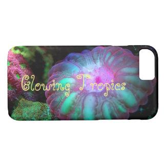 Capa iPhone 8/ 7 Coral submarino de incandescência