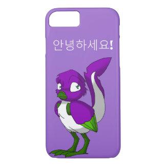 Capa iPhone 8/ 7 Coreano roxo/verde/o branco do Reptilian do