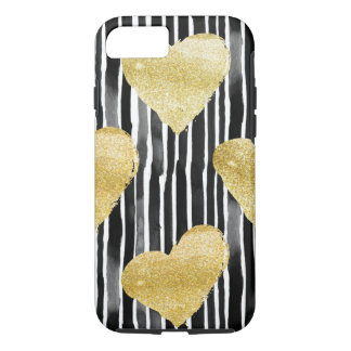 Capa iPhone 8/ 7 Cores, de água e coração de brilho - cobertas de