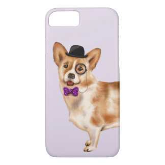 Capa iPhone 8/ 7 Corgi legal (cor do fundo editável)