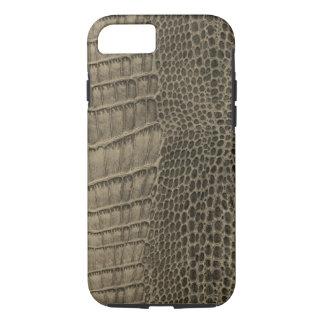 Capa iPhone 8/ 7 Couro clássico do réptil do crocodilo de Nile