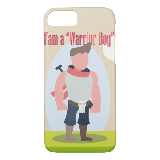 Capa iPhone 8/ 7 Cpacell-WarriorBoyModel2