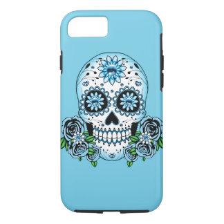 Capa iPhone 8/ 7 Crânio azul do açúcar