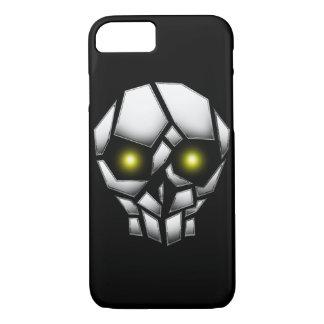 Capa iPhone 8/ 7 Crânio chapeado cromo com olhos de incandescência