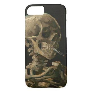 Capa iPhone 8/ 7 Crânio de esqueleto com o cigarro ardente por Van