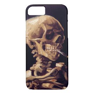 Capa iPhone 8/ 7 Crânio de Van Gogh com cigarro ardente