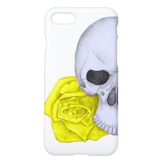 Capa iPhone 8/7 Crânio e rosas amarelos