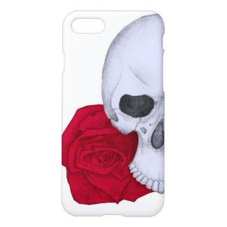 Capa iPhone 8/7 Crânio e rosas vermelhas
