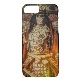 Capa iPhone 8/ 7 crânio japonês do samurai da armadura do samurai