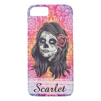 Capa iPhone 8/ 7 Crânio personalizado do açúcar do arco-íris, Los