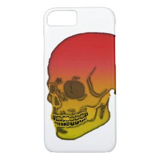Capa iPhone 8/ 7 Crânio vermelho e amarelo