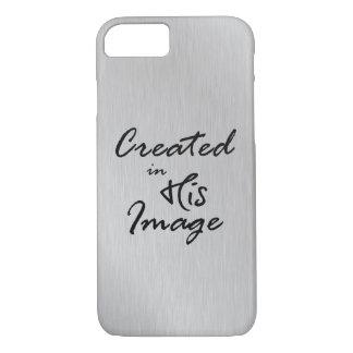Capa iPhone 8/ 7 Criado em suas citações cristãs da imagem