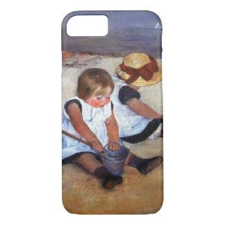 Capa iPhone 8/ 7 Crianças de Mary Cassatt na praia