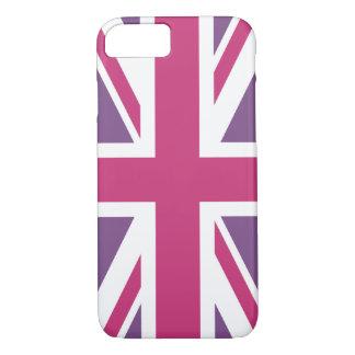 Capa iPhone 8/ 7 Criar seu próprio Union Jack magenta