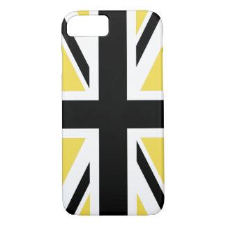 Capa iPhone 8/ 7 Criar seu próprio Union Jack preto