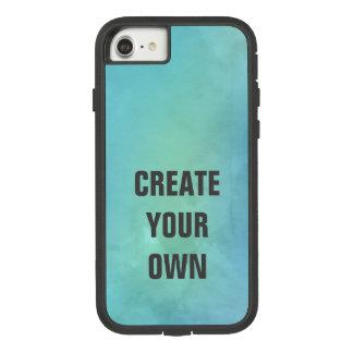 Capa iPhone 8/ 7 Criar sua própria pintura da aguarela de turquesa