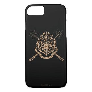 Capa iPhone 8/ 7 Crista cruzada Hogwarts das varinhas de Harry