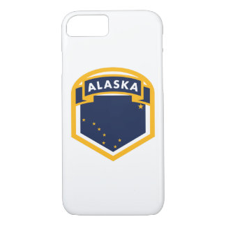 Capa iPhone 8/ 7 Crista da bandeira do estado de Alaska AK