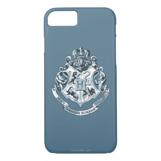 Capa iPhone 8/ 7 Crista de Harry Potter | Hogwarts - azul
