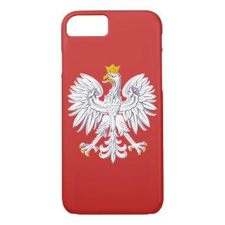 Capa iPhone 8/ 7 Crista patriótica do Polônia com Eagle