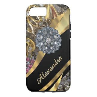 Capa iPhone 8/ 7 Cristal de rocha elegante chique personalizado do