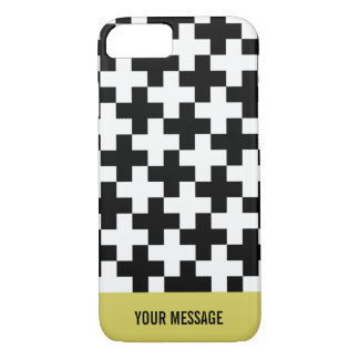 Capa iPhone 8/ 7 Cruzes preto e branco ligadas