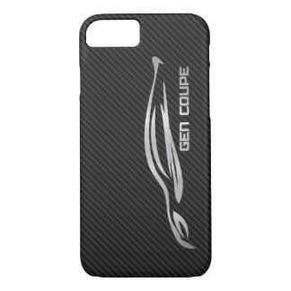 Capa iPhone 8/ 7 Cupé da génese de Hyundai - prateie no carbono do