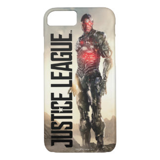 Capa iPhone 8/ 7 Cyborg da liga de justiça | no campo de batalha