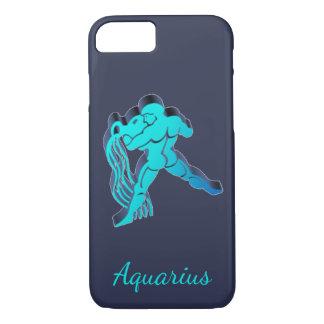 Capa iPhone 8/ 7 Da astrologia azul do zodíaco do Aquário elegante