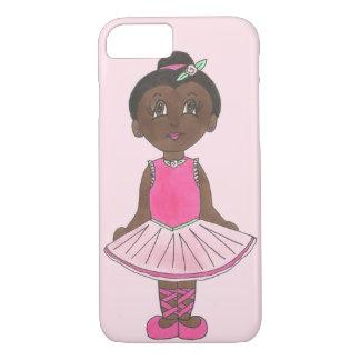Capa iPhone 8/ 7 Dançarino cor-de-rosa da bailarina do tutu do