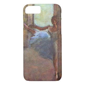 Capa iPhone 8/ 7 Dançarinos no vestíbulo, Edgar Degas, arte do balé