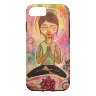 """Capa iPhone 8/ 7 De """"capa de telefone da meditação Jeanette"""