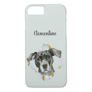 """Capa iPhone 8/ 7 De """"pintura da aguarela do cão do pitbull todas as"""