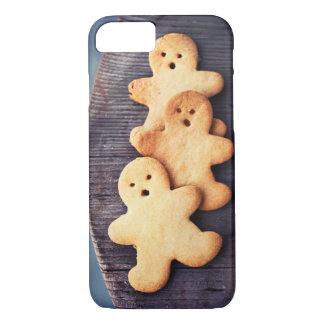 Capa iPhone 8/ 7 Decoração do Natal dos biscoitos dos homens de