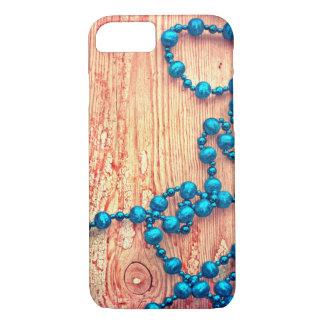 Capa iPhone 8/ 7 Decoração retro do Natal, textura perlada, de