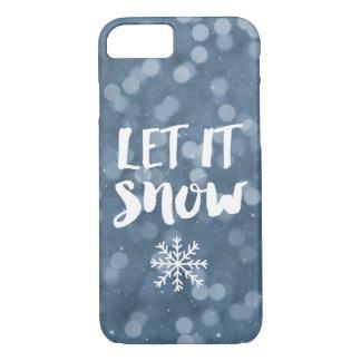 Capa iPhone 8/ 7 Deixais lhe para nevar floco de neve de Bokeh da