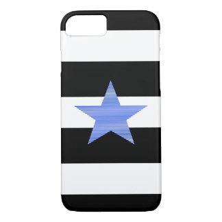Capa iPhone 8/ 7 Descasca - preto e branco - a estrela azul