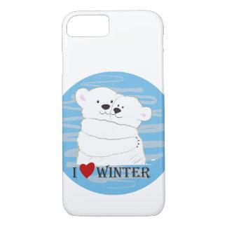 Capa iPhone 8/ 7 Desenhos animados bonitos polares do abraço do