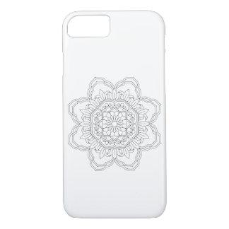 Capa iPhone 8/ 7 design abstrato da mandala. Vetor oriental