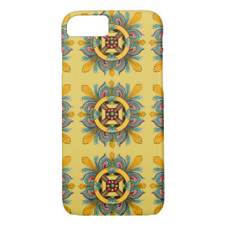 Capa iPhone 8/ 7 Design amarelo do azulejo do Victorian