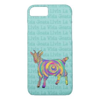 Capa iPhone 8/ 7 Design animal da arte da cabra engraçada de Vida