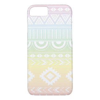 Capa iPhone 8/ 7 Design asteca Phonecase do arco-íris Pastel