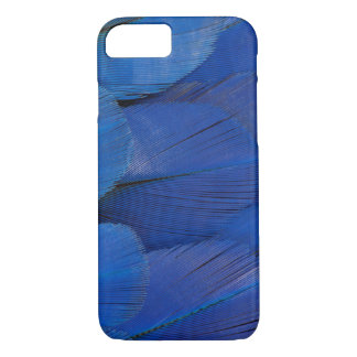 Capa iPhone 8/ 7 Design azul da pena do Macaw do jacinto